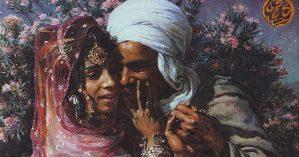 """Etienne Dinet """"Escrava do amor e luz dos olhos""""."""
