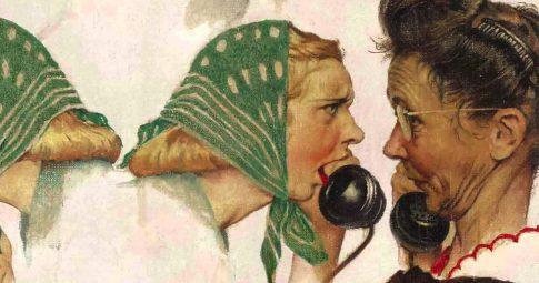 "Norman Rockwell, ""The Gossips,"" 1948"