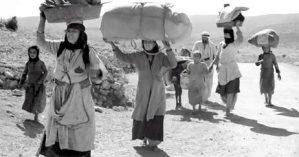 Palestinos deixas suas casas durante o Nakba de 1848 - Reprodução