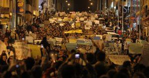Manifestantes em São Paulo no dia 17 de junho de 2013 - Reprodução.