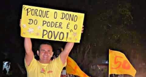 O Professor Oton Mario, prefeito de Jaçanã - Reprodução