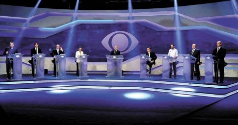 Candidatos à Presidência realizaram na semana o primeiro debate televisivo da campanha - André Porto/ Metro