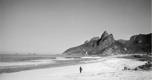 Vista do Leblon, no Rio de Janeiro, na década de 1940