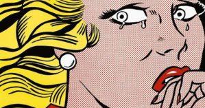 """""""Moça Chorando"""", Roy Lichtenstein, 1963."""
