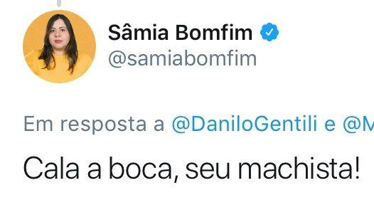 O destempero machista de Danilo Gentili contra Sâmia Bomfim