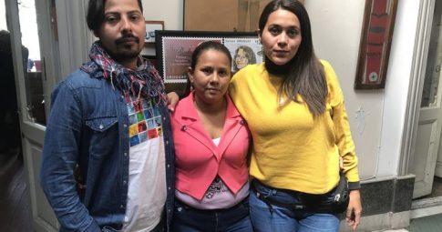 Carolina Hernandez, ao centro, ao lado dos demais membros da caravana de solidariedade à Nicarágua, no Brasil - Reprodução