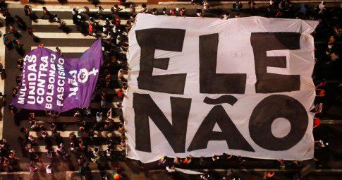 Manifestação do Ele Não, em São Paulo - Nacho Doce/Reuters