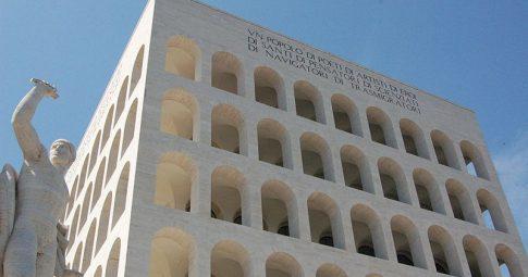 Vista do Palácio da civilização italiana, em Roma