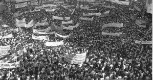 """Manifestação pelo """"Diretas Já!, em São Paulo - Reprodução"""