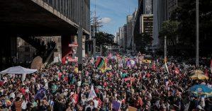 Ato contra Bolsonaro reuniu centenas de milhares de pessoas em São Paulo no último fim de semana –  Julia Dolce/Brasil de Fato