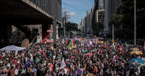 Ato contra Bolsonaro reuniu centenas de milhares de pessoas em São Paulo no último fim de semana -  Julia Dolce/Brasil de Fato