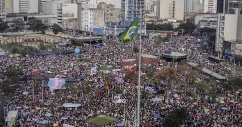 Ato Mulheres contra Bolsonaro no Largo da Batata, 29 de setembro de 2018