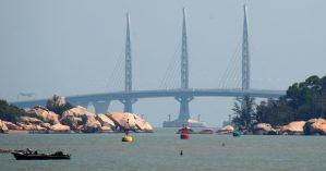 Vista sobre a ponte de Hong Kong-Macau-Zhuhai - AP