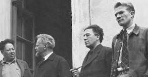 Jean van Heijenoort (à direita), ao lado de Diego Rivera e André Breton