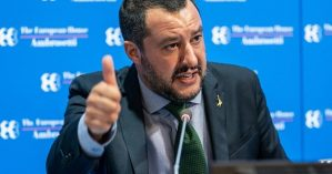 O líder direitista Matteo Salvini - Getty Images