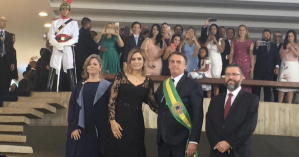 Bolsonaro, após a posse, recebe convidados internacionais do Palácio do Itamaraty - Reprodução