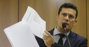 O ministro Sérgio Moro ao apresentar projeto de lei anticrime - Dida Sampaio/Estadão Conteúdo