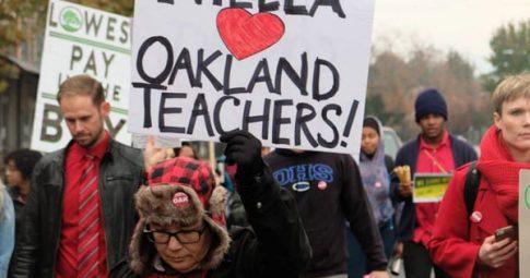 Mensagem de apoio e agradecimento dos professores de Oakland aos professores de São Paulo