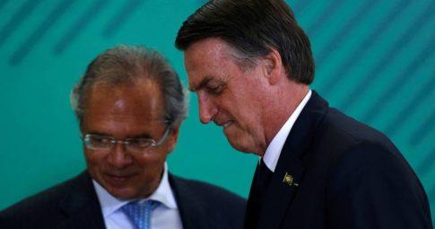 Jair Bolsonaro e Paulo Guedes. Reprodução