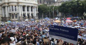 Placa em homenagem a Marielle Franco. Foto: Fernando Frazão/Agência Brasil