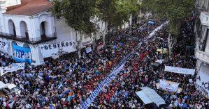 Av. de Mayo em Buenos Aires no ato do 24/03/2019. Foto: Santiago Vivacqua/La Nación