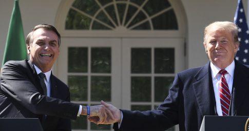 Bolsonaro e Trump. Foto: Jim Watson/AFP