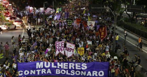 Ato público contra Jair Bolsonaro em São Paulo (29/09/18) - Nelson Antoine?Folhapress