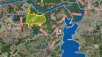 Localização prevista da Mina Guaíba - Reprodução