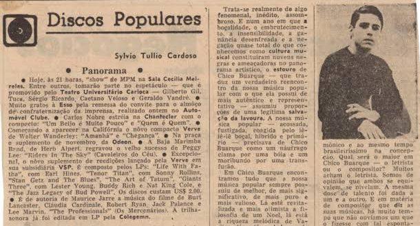 Crítica do primeiro álbum de Chico Buarque