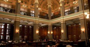 Detalhe do interior da Biblioteca Nacional