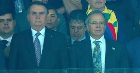 Bolsonaro vaiado no Mineirão - Reprodução