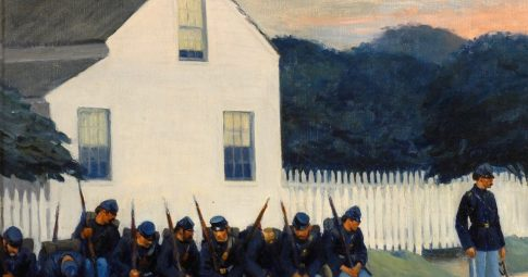 """Dawn Before Gettysburg"", Edward Hopper, 1934"