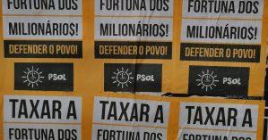 Agitação de rua do PSOL em Porto Alegre (RS).