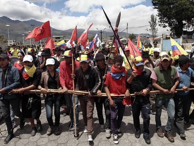 A luta dos povos indígenas é internacional! Solidariedade ao povo Equatoriano!