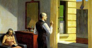 """Edward Hopper, """"Hotel by a Railroad"""", 1952."""