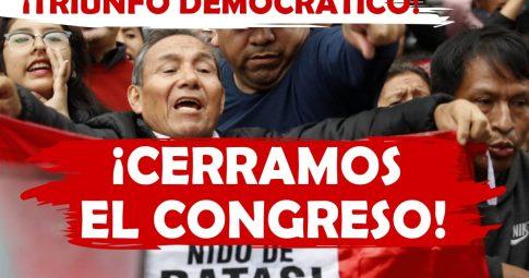 Triunfo democrático: fechamos o congresso e seguimos nos mobilizando