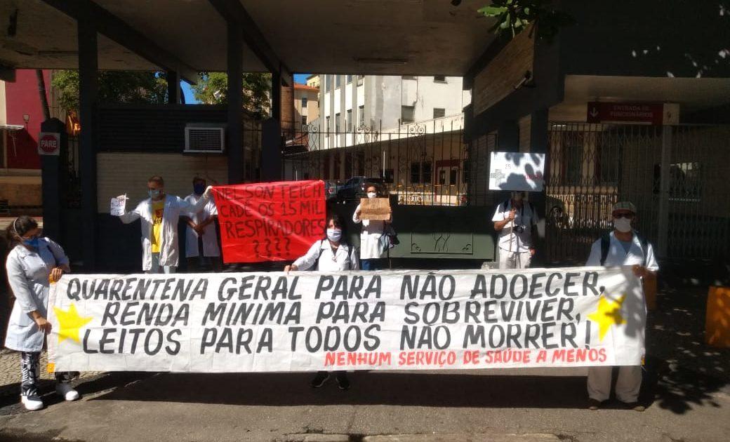 Manifestação no Hospital do Bonsucesso – Rio de Janeiro