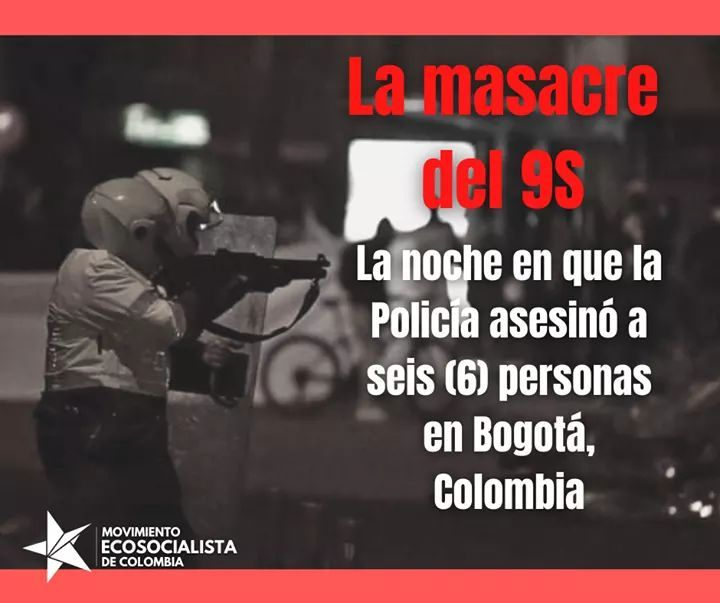 Condenamos o massacre realizado pela polícia de Bogotá neste 9 de setembro