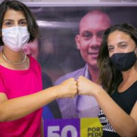 Fernanda oficializa apoio à Manuela D'ávila no segundo turno em Porto Alegre