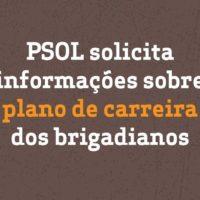 PSOL solicita informações sobre plano de carreira dos brigadianos