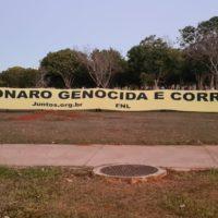 FNL e movimentos sociais constroem acampamento popular no DF em dia nacional de lutas por impeachment de Bolsonaro