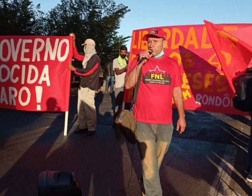 FNL e movimentos sociais organizam piquete em Minas Gerais pelo impeachment de Bolsonaro
