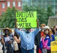 Protestos contra a política de imigração de Biden e o tratamento dos haitianos